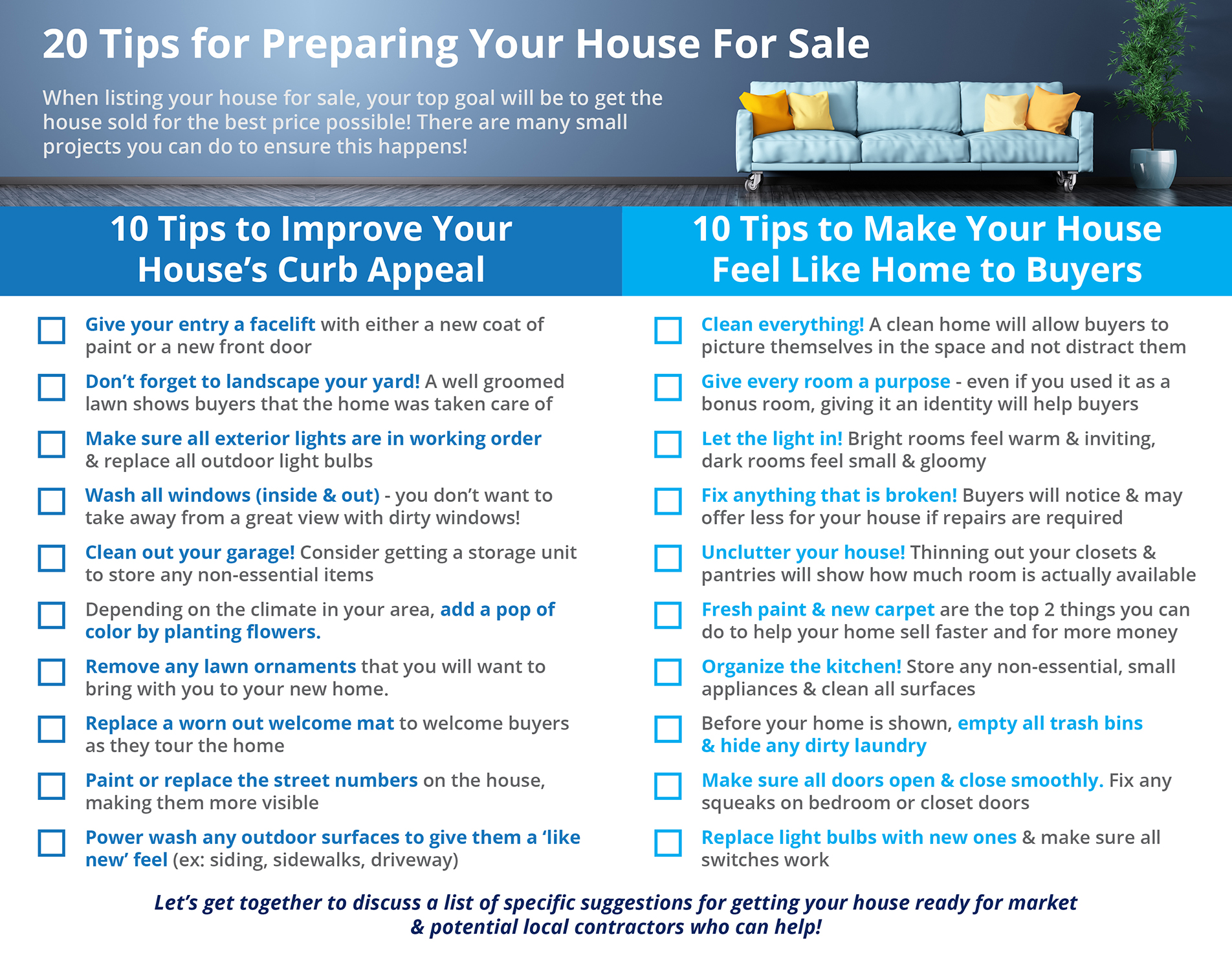 20 Tips For Preparing Your House For Sale   Simplifying The Market